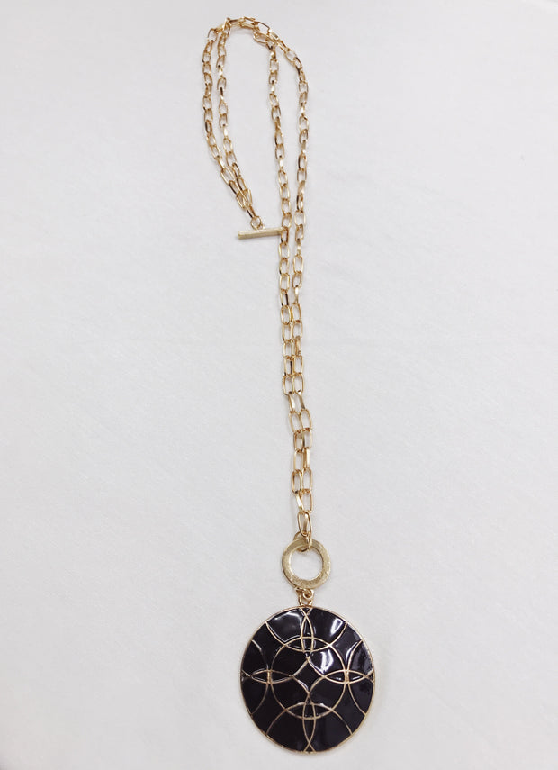 Pandeiro Medallion Necklace