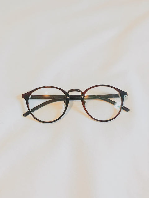 Brown Clear Lens Glasses - Shellsea