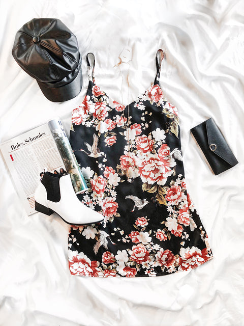 Good Intentions Black Floral Dress