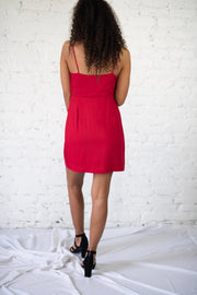 Burnin Up Wrap Dress Red
