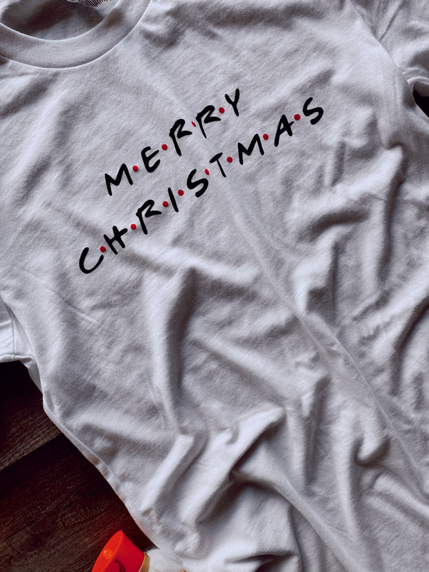 Merry Christmas Graphic Tee White