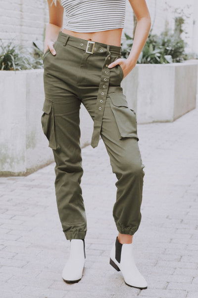 On The Run Cargo Pants Olive