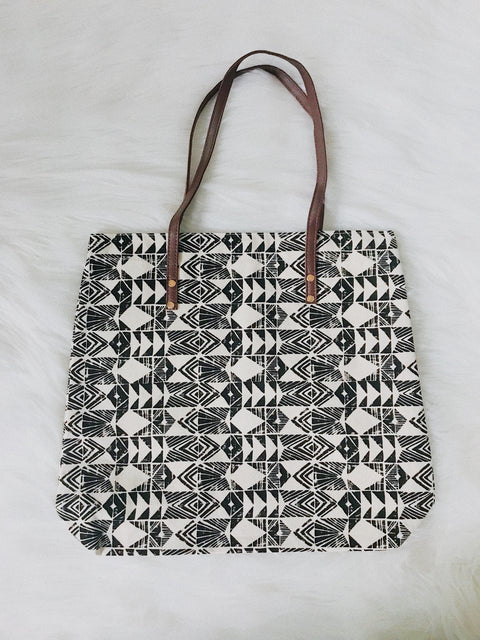 Tribal Tote Bag Black - Shellsea