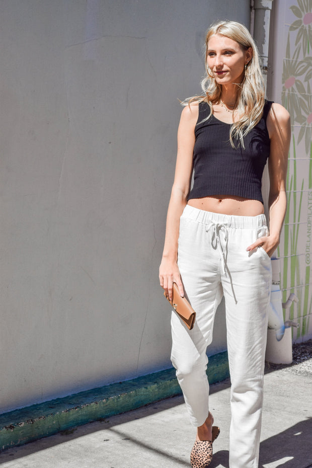 All Natural Ivory Pants - Shellsea