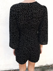 On The Spot Romper Black