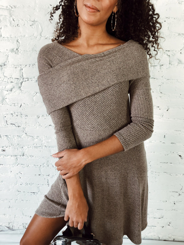Holiday Party Off The Shoulder Dress