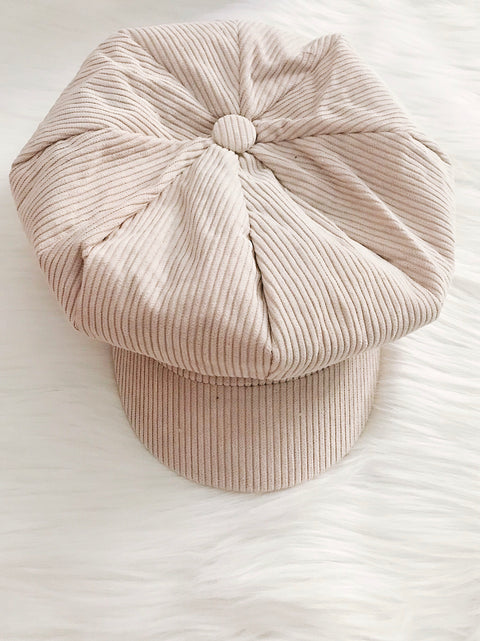 Corduroy Cabby Hat Cream