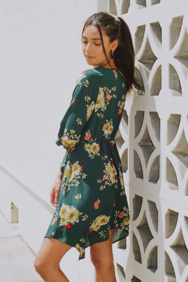 About To Blossom Floral Dress Green - Shellsea