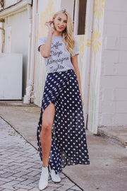 Put Me On The Spot Skirt Navy
