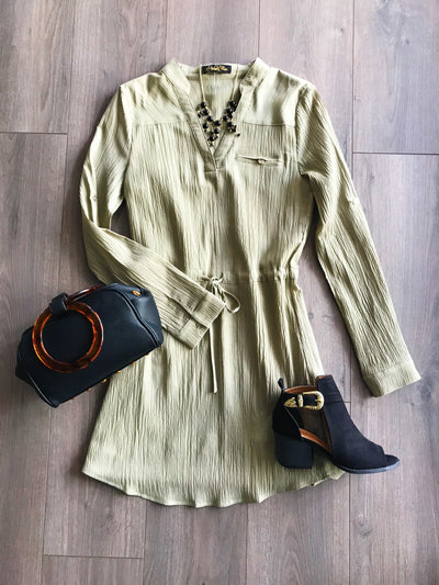Rather Relaxed Olive Dress