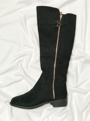 A Kindred Stroll Knee High Boot Black - Shellsea