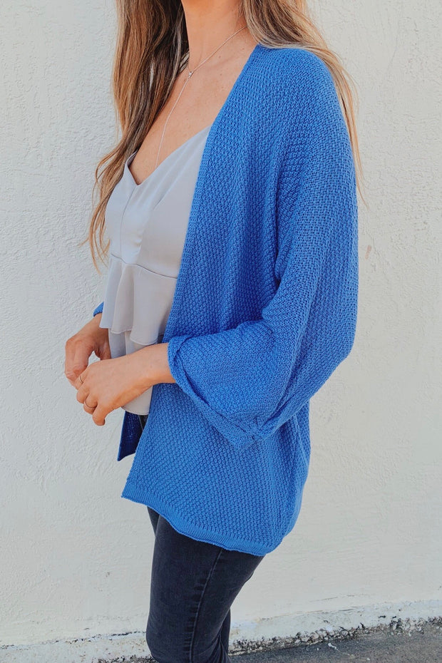 Give a Little Cardigan Periwinkle