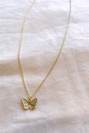 Mini Butterfly Pendant Necklace