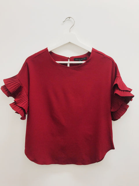 Thrill of the Throwback Top Burgundy
