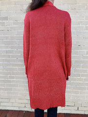 Color and Character Knit Cardigan Red - Shellsea