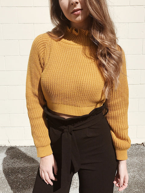 Ruffled and Ready Sweater - Shellsea