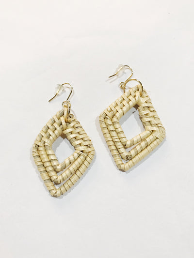 Pointed Wooden Earrings