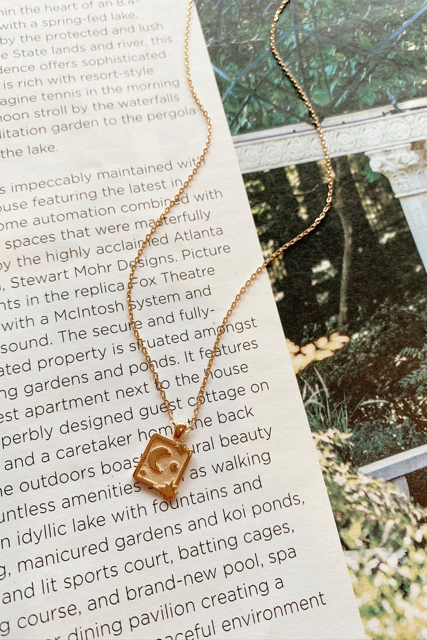 Square At The Moon Necklace