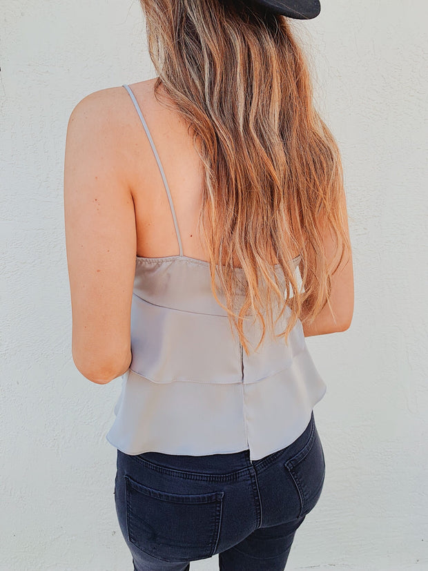 Airy Image Tank Top Grey - Shellsea