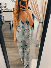 Stuck In Between Floral Jumpsuit