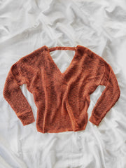 Give It A Knot Sweater Rust