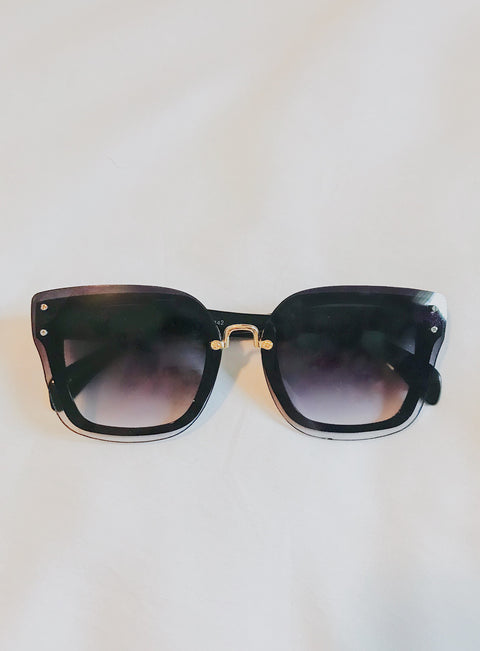 Double Layer Sunnies Black - Shellsea