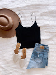 Casual is Calling Crop Top Black
