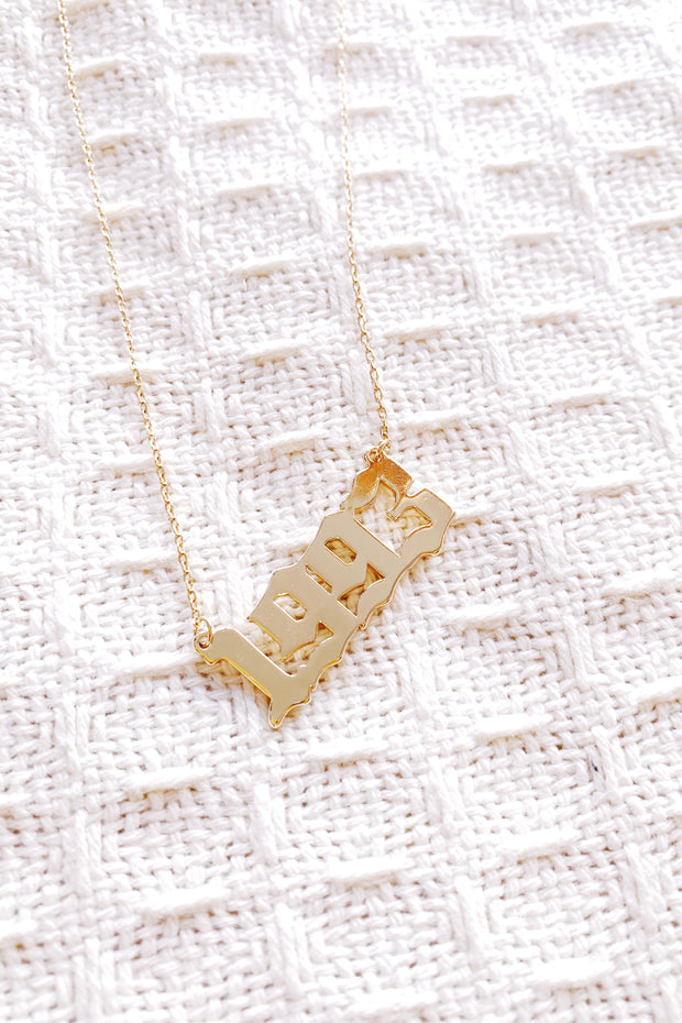Year 1993 Necklace Gold