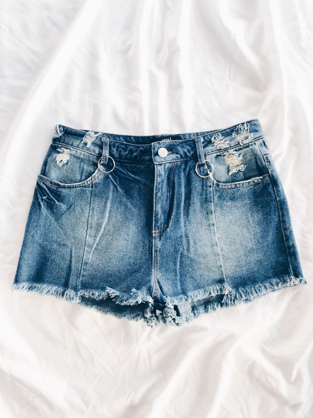 Put A Ring On It Denim Shorts