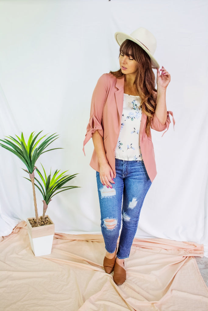 Good Choice Blazer Dusty Rose - Shellsea