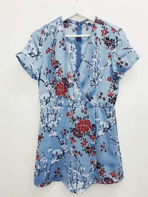 Perfect Night Floral Romper Blue