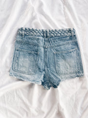 Topstitched Topper Shorts
