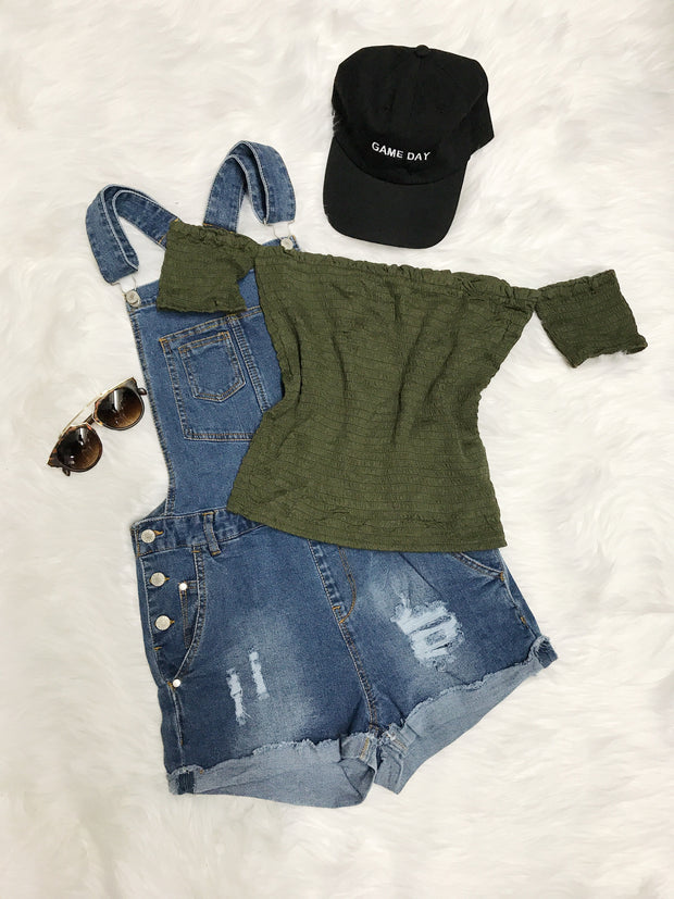 Sun City Crop Top Olive