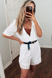 Caring For You Romper White