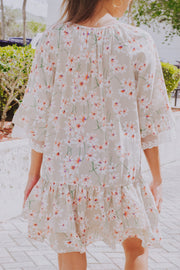Creative Creation Floral Dress Beige - Shellsea