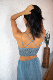In The Spirit Bralette Mountain Blue