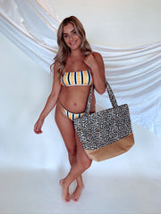 Swim My Way Strappy Back Bikini Top Yellow