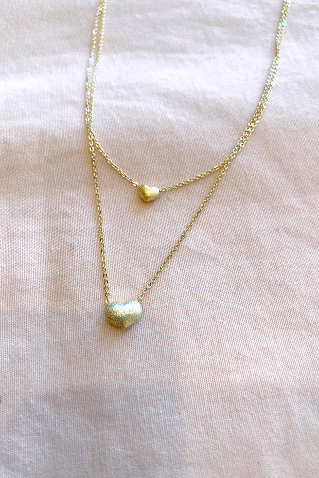 Layered Mini Heart Necklace
