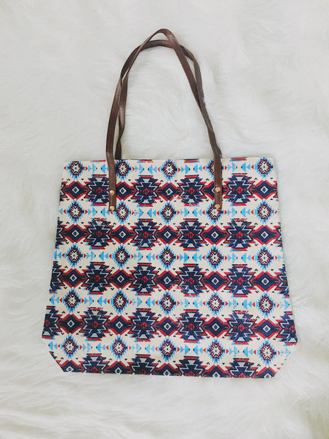 Tribal Tote Bag Blue/Red - Shellsea