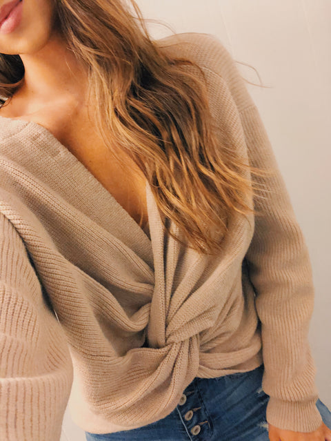 Love Me Knot Sweater Mocha