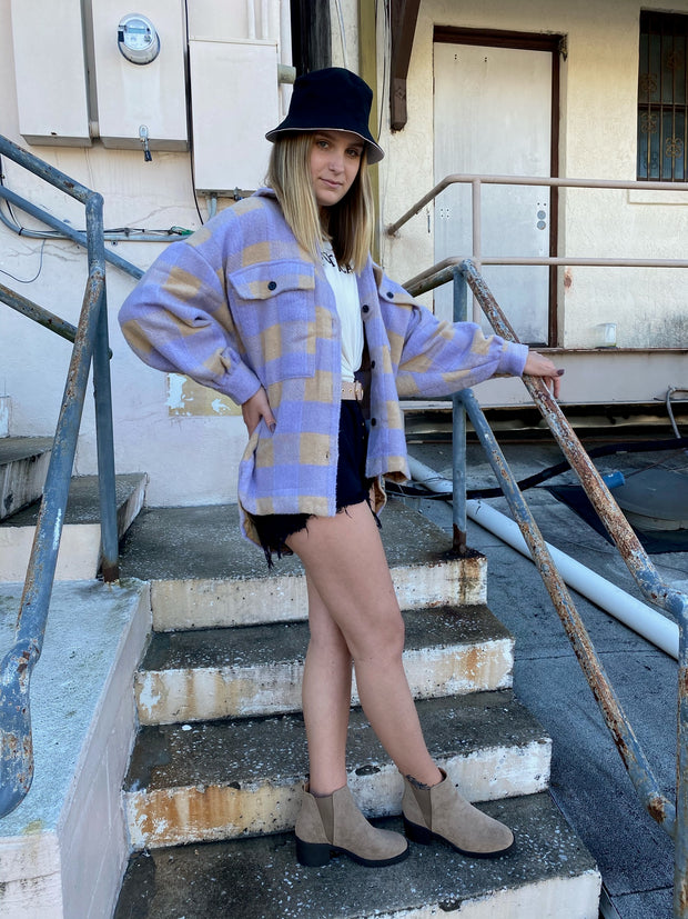 Elise Oversized Shacket Lavender