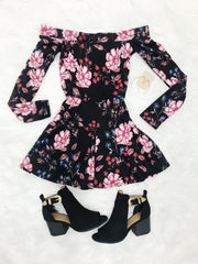 Floral Of The Story Black Romper - Shellsea