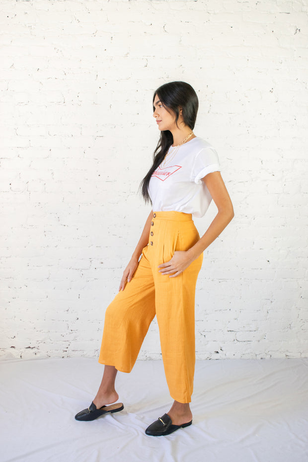 Road Less Traveled Culottes Mustard