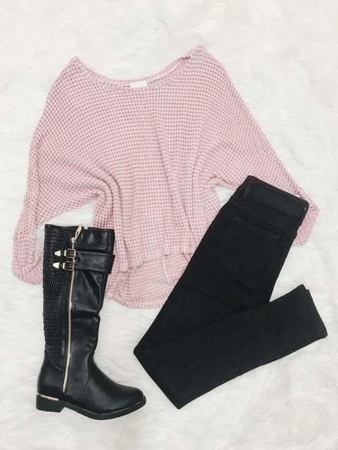 Comfort Calls Blush Sweater
