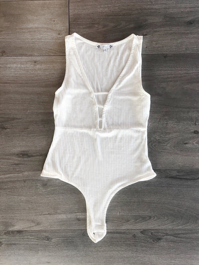 Act Your Cage Bodysuit White - Shellsea