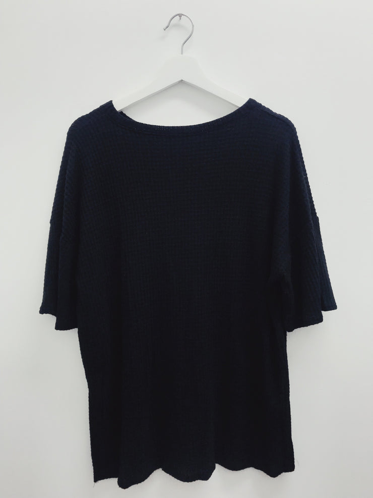 Always Around Knit Top Black - Shellsea