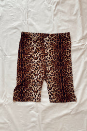 Night Prowl Leopard Biker Shorts