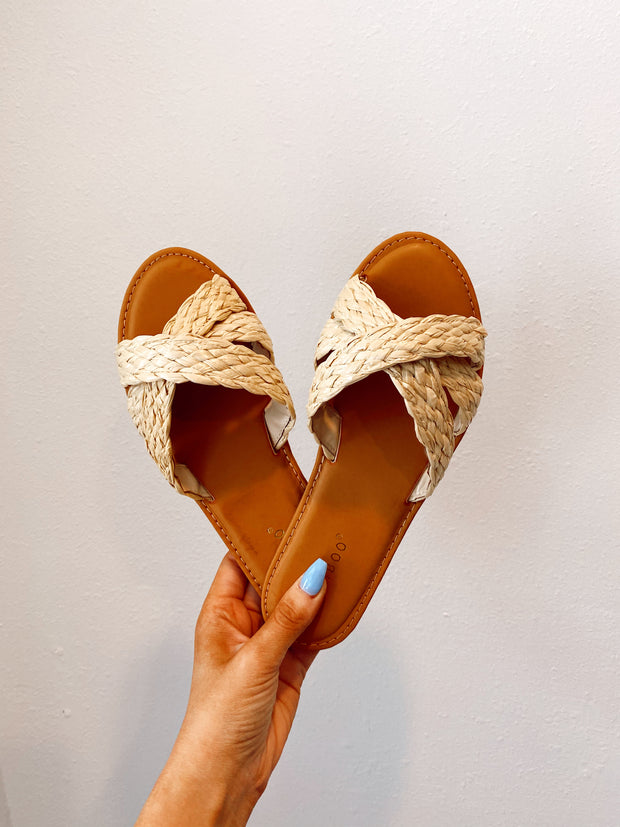 Woven You Like To Know Sandals Natural