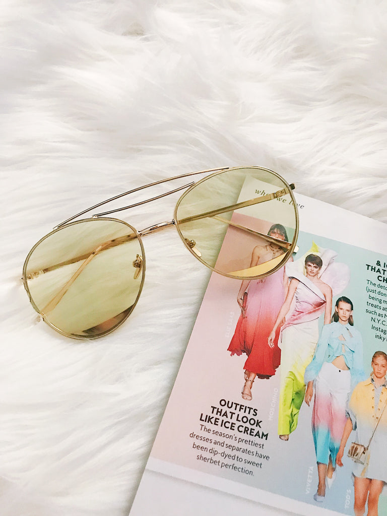 Squeezed Lemon Yellow Sunnies - Shellsea