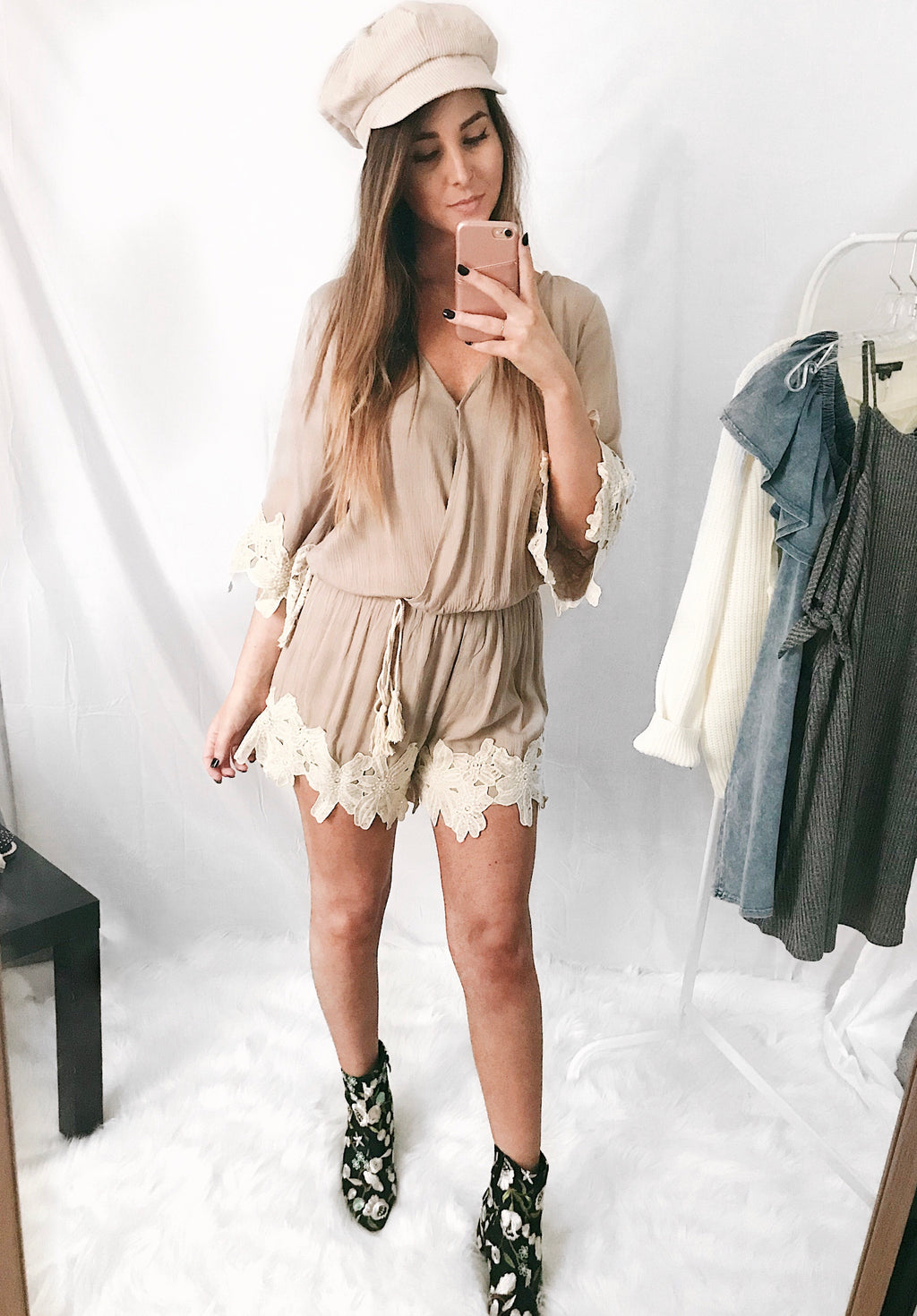 Soft Touch Romper Taupe - Shellsea